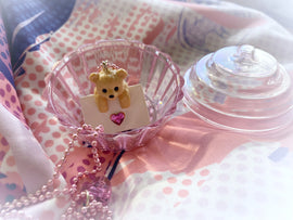 PlushiePink Kawaii Tiny Teds Heart Envelope Teddy Bear Necklace
