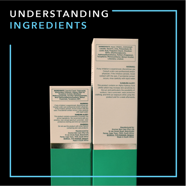 Understanding Ingredients