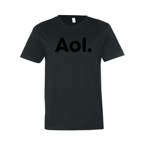 Black AOL Wordmark Tee