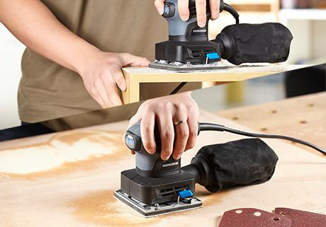 2.0-Amp 1/4 Sheet Palm Sander with 12pcs Sandpaper