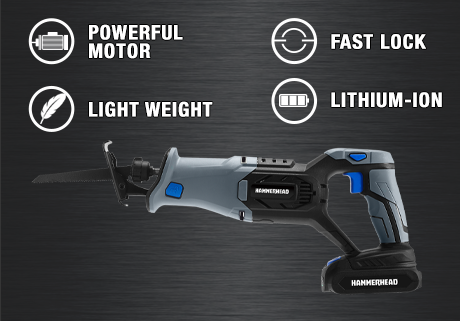 20V Cordless 4-Tool Combo Kit: Drill Driver, Reciprocating Saw, Circular Saw & LED Light