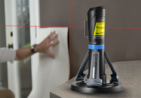 Compact Self-Leveling Cross Line Laser with Tripod Stand