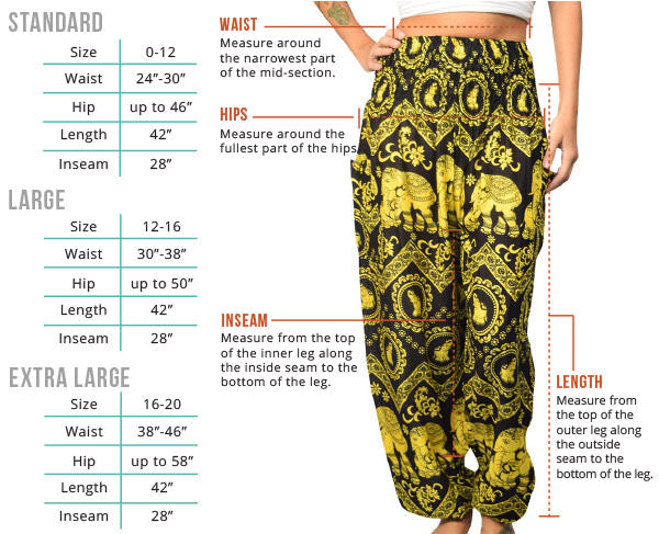 Women's Harem Pants Fit Guide - The Elephant Pants