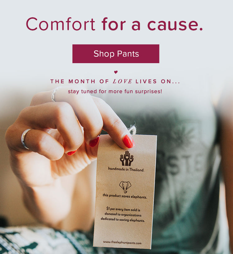 Comfort for a cause. Shop Pants