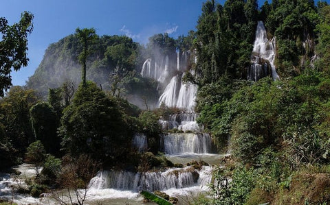 thi lo su waterfall, ten, must see, most beautiful, thailand
