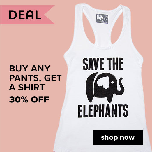 Buy any pants, get a shirt 30% off