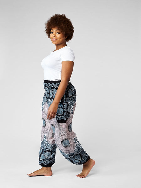 Nellie Plus Size Black Harem Pants
