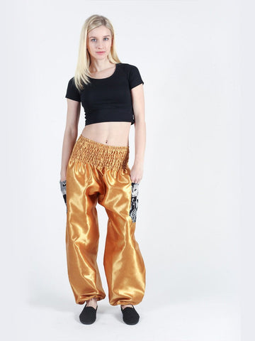 Rombo Gold Harem Pants - The Elephant Pants