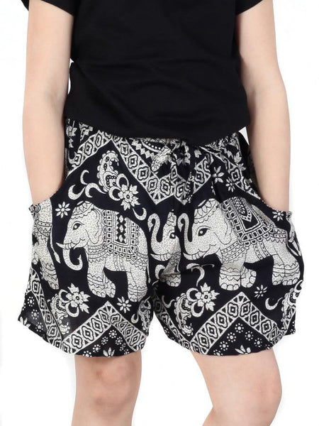 Kids Black Diamond Shorts - The Elephant Pants - 1