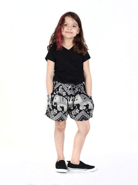 Kids Black Diamond Shorts - The Elephant Pants - 2