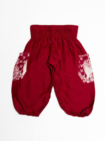 Kids Rombo Red Harem Pants