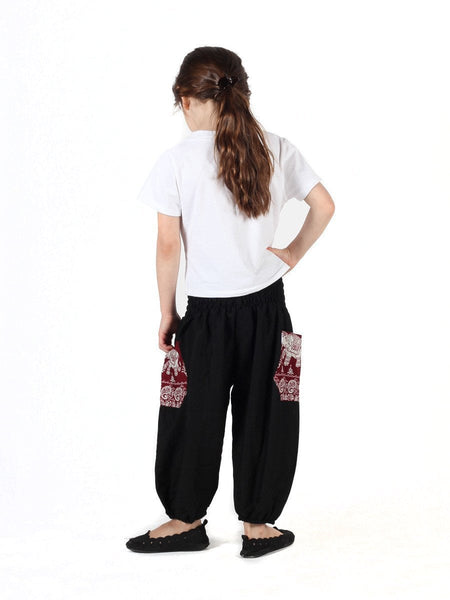 Kids Rombo Black Harem Pants - The Elephant Pants - 4
