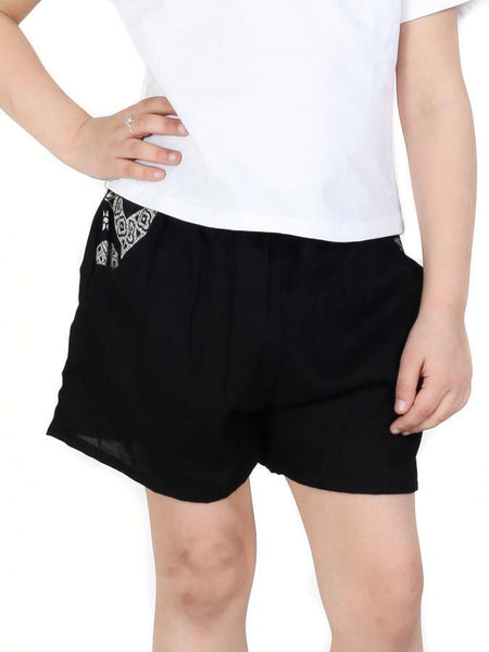 Kids Rombo All-Black Shorts - The Elephant Pants - 1