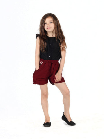 Kids Rombo Red Shorts