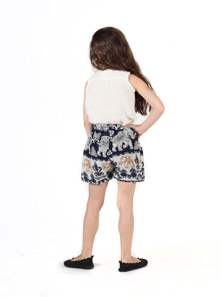 Kids Surapa Dark Blue Shorts - The Elephant Pants - 4