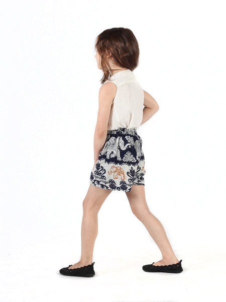 Kids Surapa Dark Blue Shorts - The Elephant Pants - 3