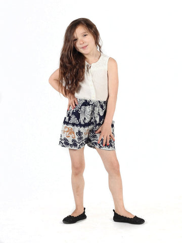 Kids Surapa Dark Blue Shorts