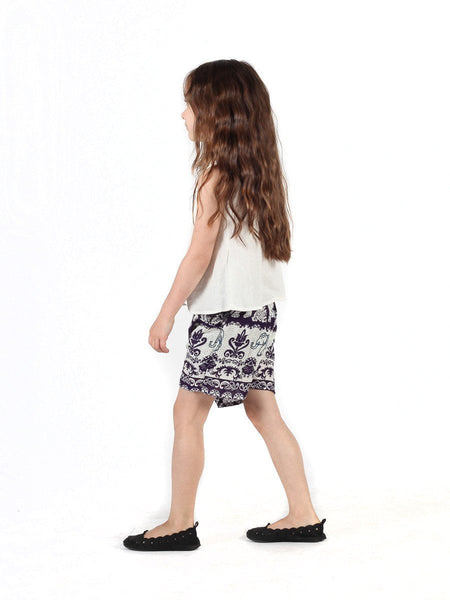 Kids Surapa Purple Shorts - The Elephant Pants - 3