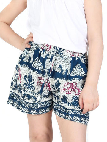 Kids Surapa Teal Shorts