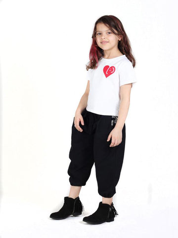 Kids Vita Black Jogger Pants