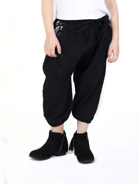 Kids Vita Black Jogger Pants - The Elephant Pants - 1