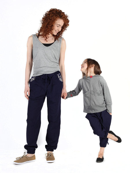 Kids Vita Navy Jogger Pants - The Elephant Pants - 5