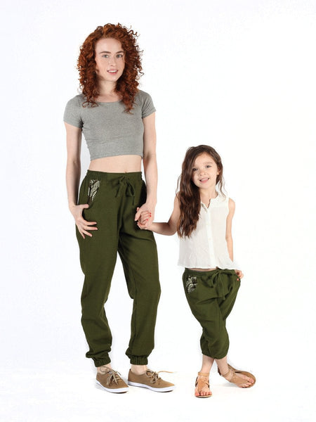 Kids Vita Olive Jogger Pants - The Elephant Pants - 5