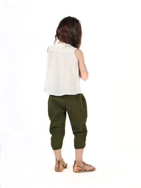 Kids Vita Olive Jogger Pants - The Elephant Pants - 4