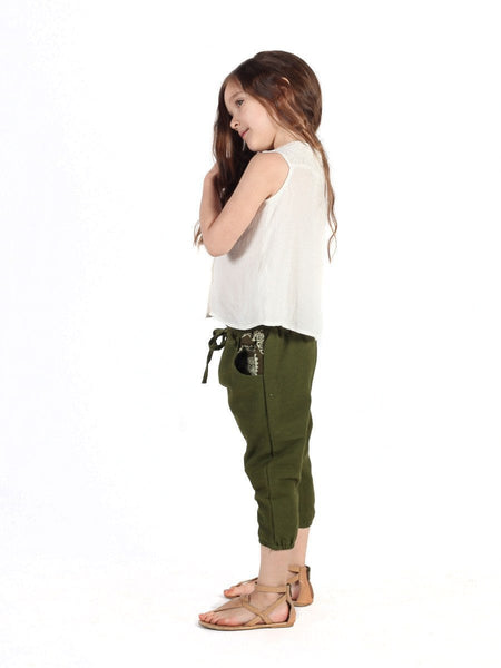 Kids Vita Olive Jogger Pants - The Elephant Pants - 3
