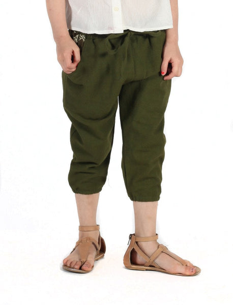 Kids Vita Olive Jogger Pants - The Elephant Pants - 1