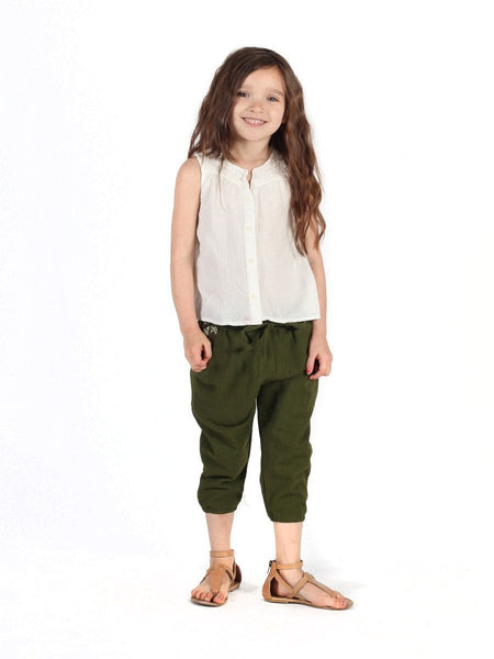 Kids Vita Olive Jogger Pants - The Elephant Pants - 2