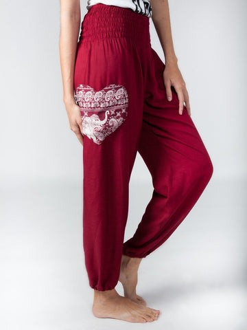 Rombo Red True Love Harem Pants