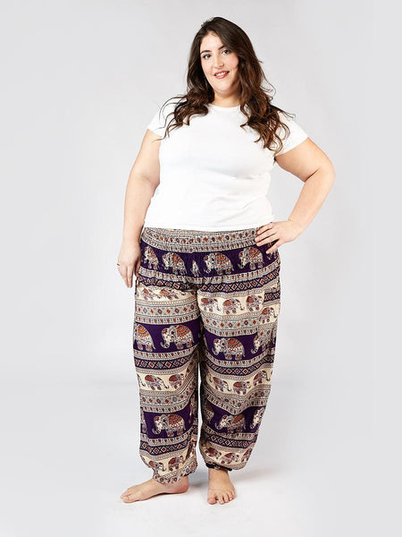 Saza Purple Plus Size Harem Pants
