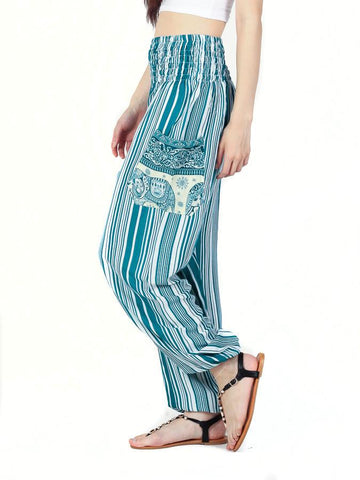 Shira Teal Harem Pants