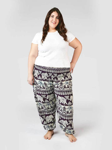 Surapa Purple Plus Size Harem Pants