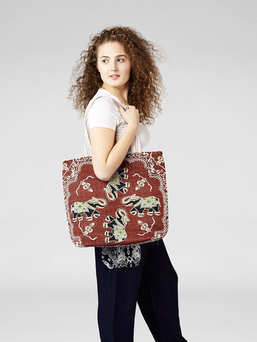 Tilly Red and Blue Tote