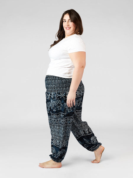 Minnie Navy Plus Size Harem Pants