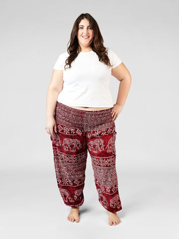 Minnie Red Plus Size Harem Pants