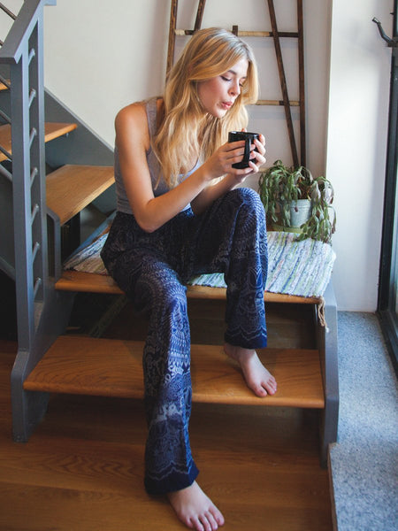 Wendi Navy Unisex Loungers - The Elephant Pants - 1