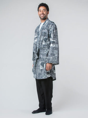 Orok Gray Fleece Lined Robe