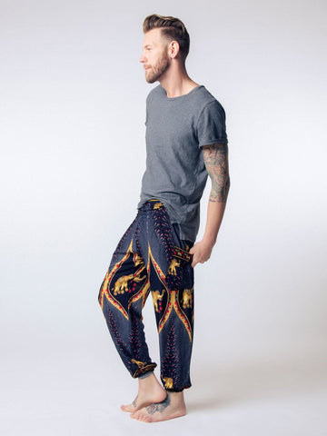 Rapsu Dark Blue Men's Harem Pants