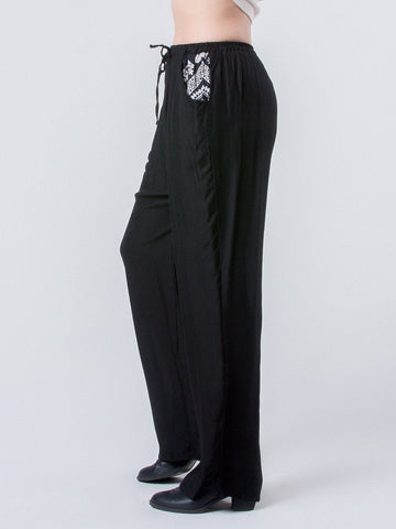 Rombo All-Black Boho Pants