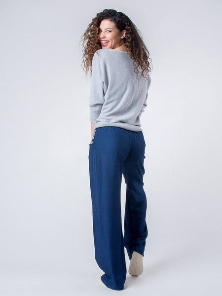 Rombo Blue Boho Pants
