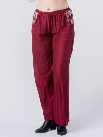 Rombo Red Boho Pants
