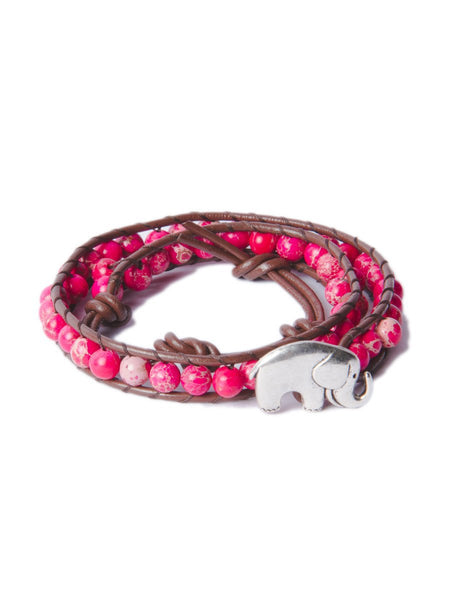 Bada Bracelet Magenta - The Elephant Pants - 1