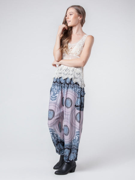 Nellie Black Harem Pants