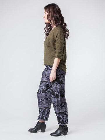 Olare Black Harem Pants