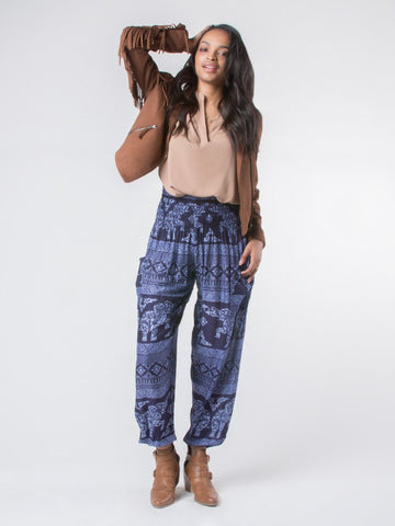 Olare Navy Harem Pants