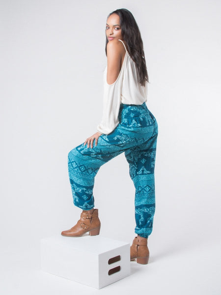 Olare Teal Harem Pants