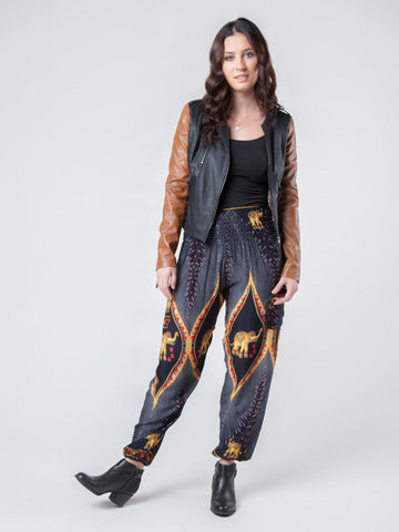 Rapsu Black Harem Pants